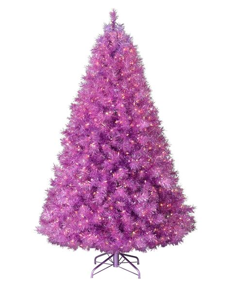 purple christmas tree treetopia