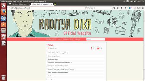 Radytia Dika Radikus Makankakus buku buku yang ditulis oleh raditya dika rivaekaputra