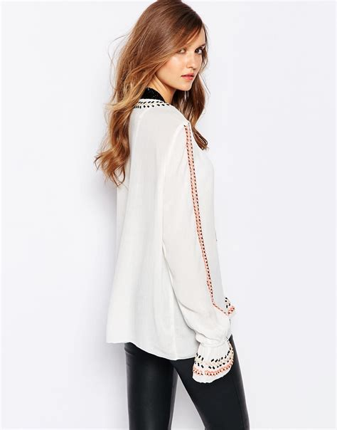 Blouse Tassel by Lyst Y A S Tassel Blouse In White