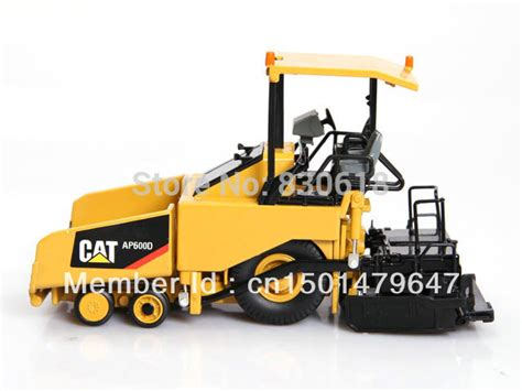 Cat 150 Ap600d Asphalt Paver With Canopy 1 50 diecast model norscot cat ap600d asphalt paver with canopy 55260 construction vehicles