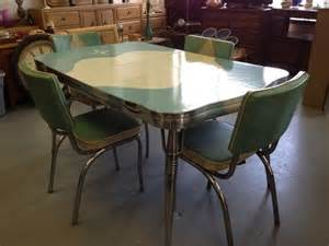 Chrome Kitchen Table And Chairs by Retro Vintage 50s Kitchen Chrome Dinette Table 4 Chairs