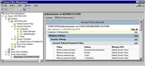 policy management console deploying policy using windows vista