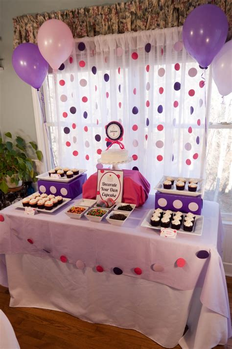 2nd birthday decorations at home cupcakes and polka dots 2nd birthday party cupcake table