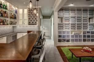 Basement Bar and LEGO room   Craftsman   Basement   seattle   by Board and Vellum