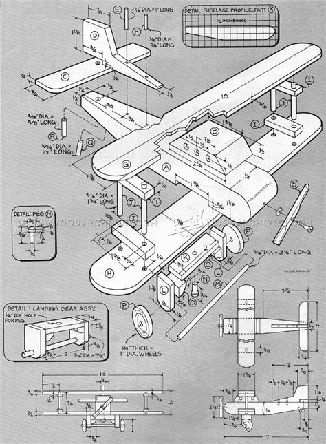 Wooden Biplane Plans ? WoodArchivist