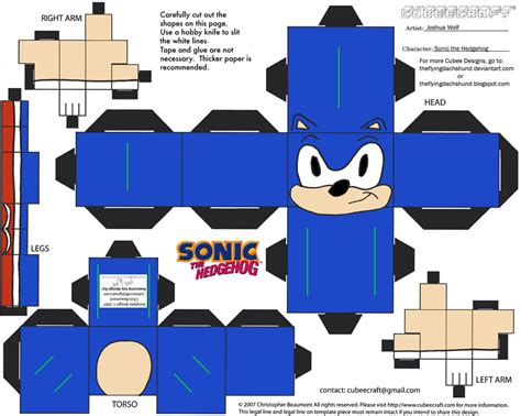 Papercraft Maker - vg 4 sonic cubee by theflyingdachshund on deviantart