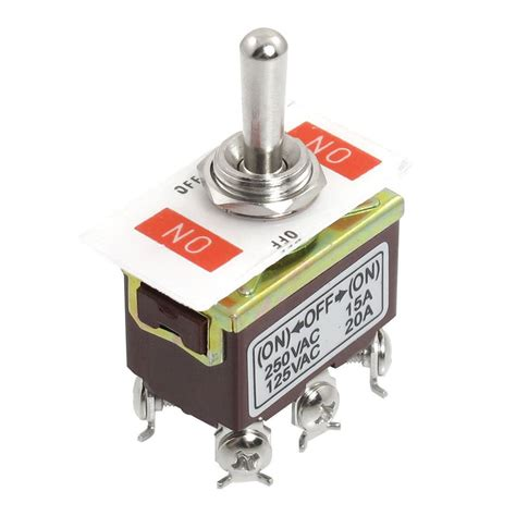 Switch Toggle ac 250v 15a 125v 20a on on 3 position dpdt momentary