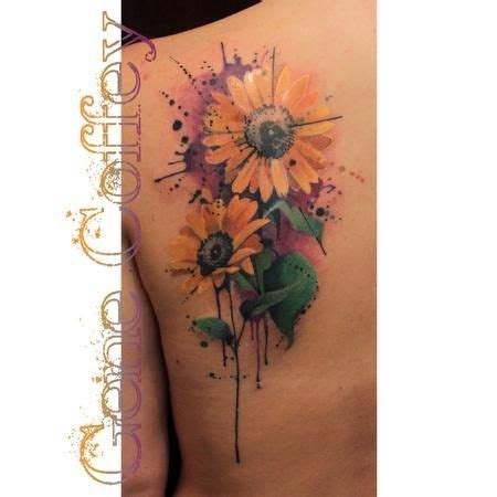 sunflower watercolor tattoo 25 best ideas about watercolor sunflower on
