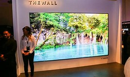 Image result for Samsung The Wall TV. Size: 268 x 160. Source: www.cnet.com