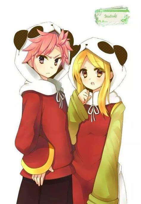 fairytail panda nalu pandas and natsu and on