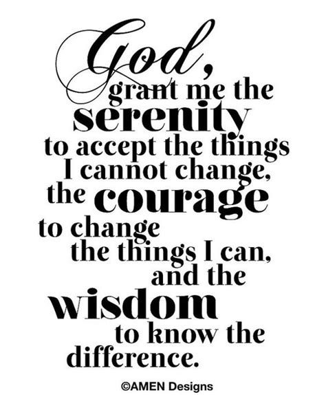 printable prayer quotes printable typography serenity prayer 8x10 diy pdf