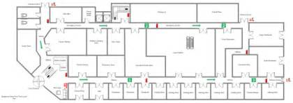 supermarket floor plan supermarket fire escape plan exles and templates