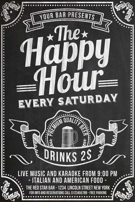 Chalkboard Happy Hour Flyer Template Psd Download Xtremeflyers Happy Hour Flyer Template Free