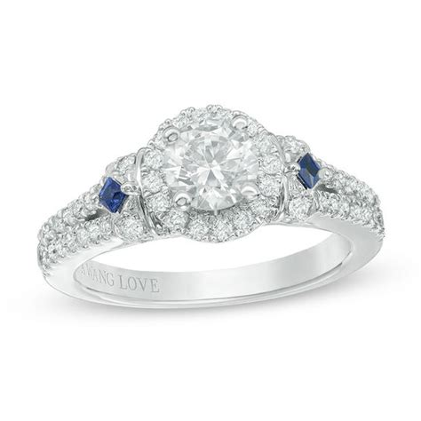 vera wang love collection 1 1 4 ct t w diamond and blue