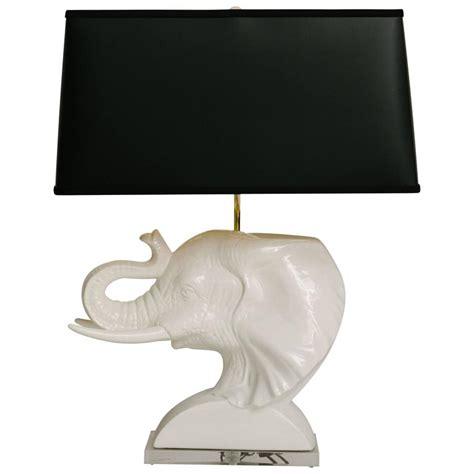 vintage white ceramic elephant bust lamp  stdibs