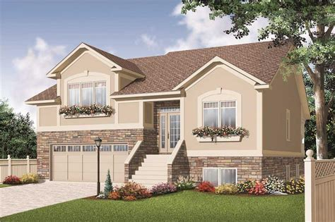 split entry home plans split level house plans home design 3468