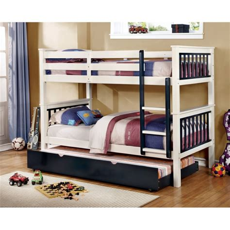 furniture of america bunk beds furniture of america marcel twin over twin bunk bed in