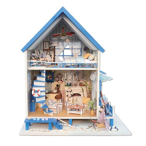 model doll house kits diy miniature wooden doll house furniture kits toys handmade craft miniature model kit