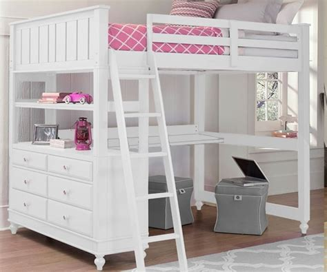 white loft bed with desk 1045 size loft bed with desk white lakehouse