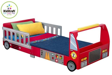 truck toddler bed kidkraft fire truck toddler bed 76021