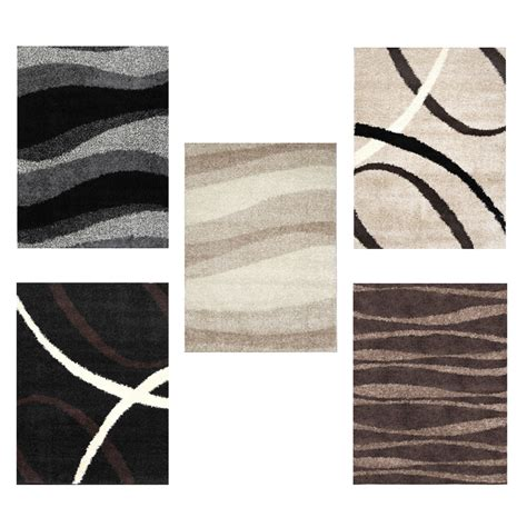 Area Rugs Modern Contemporary Modern Shag Abstract Area Rug 5x7 Contemporary Flokati Carpet Actual 4 9 Quot X6 6 Quot Ebay