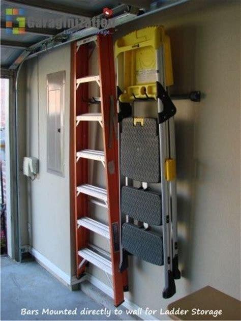 Garage Ladder Storage System by 25 Best Ideas About Ladder Storage On Tool