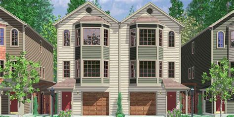 narrow row house narrow row house plans duplex house plans two master suites