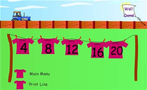 printable number washing line washing line numbers crick maths zone cool learning games