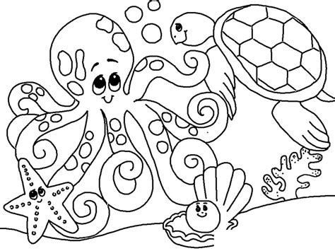 ocean coloring pages preschool free under the sea coloring pages to print for kids