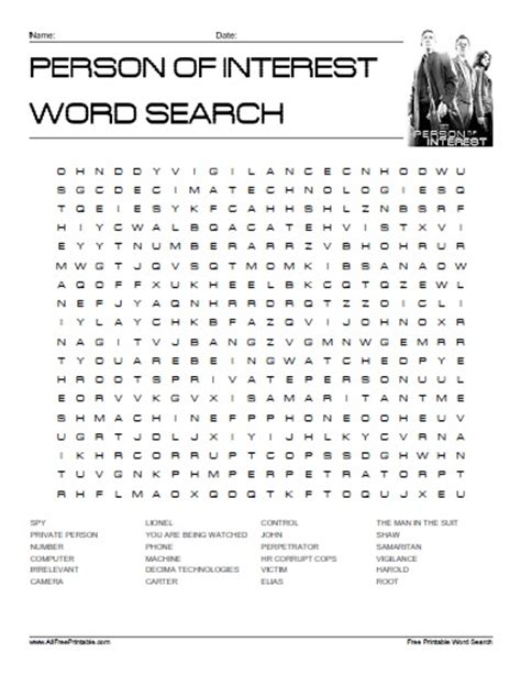 Person Search Free Search Person Of Interest Word Search Free Printable Allfreeprintable