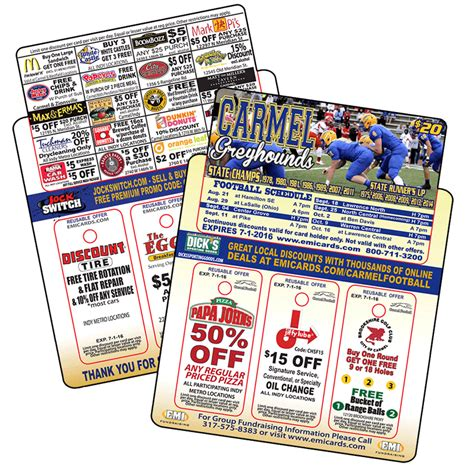 Gift Card Fundraisers - football fundraising cards emi fundraising
