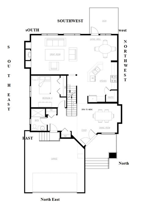 north east facing house plans northeast facing house plan