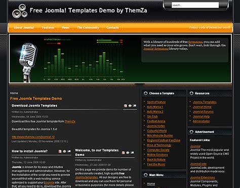template joomla radio station free feel the music joomla 2 5 theme