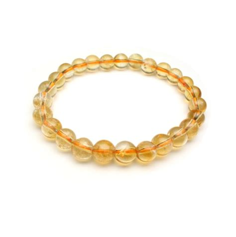 golden yellow citrine bead bracelet 8mm 10 mm 12 mm bb019