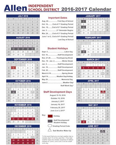 American Academic Calendar Academic School Year Calendar School Calendars