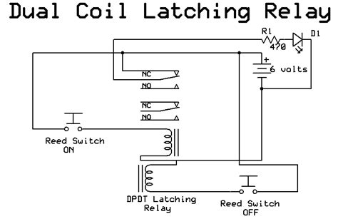 latching relay diagram image gallery latching relay circuit schematic