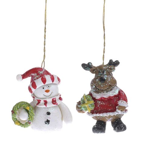 snowman and reindeer miniature snowman and reindeer ornaments what s new