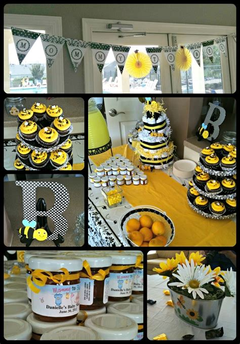 Yellow Themed Baby Shower by A Beautiful Yellow Black White Baby Shower In A Bee