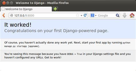 django tutorial test django creating test project 2018