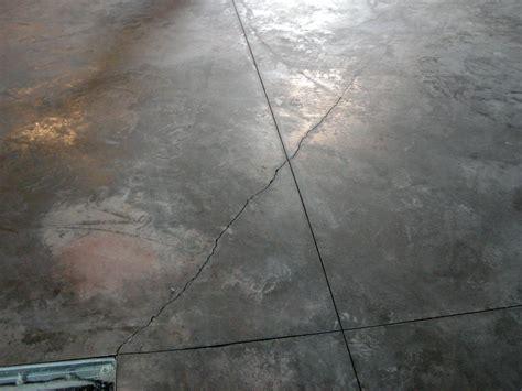 new concrete floor laid cracking and sealer q s
