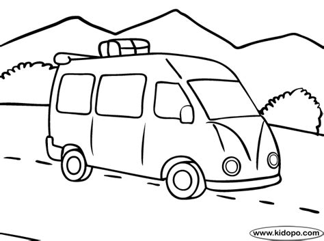 Road Trip Coloring Pages road trip coloring page