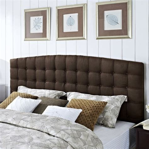 Brown Tufted Headboard King Tufted Panel Headboard In Brown Da4015hk Br
