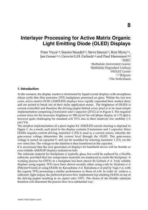 report on active matrix organic light emitting diode active matrix organic light emitting diode report pdf 28 images interlayer processing for