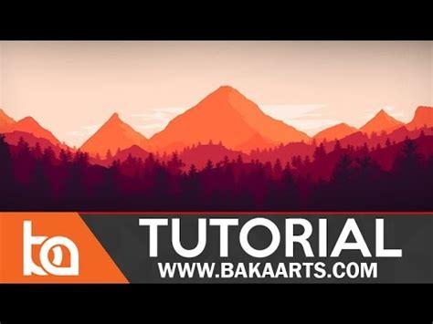 flat landscape illustrator tutorial for beginners youtube flat landscape photoshop tutorial for beginners youtube