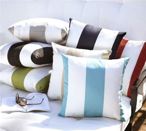 Sunbrella Outdoor Pillows And Cushions by Sunbrella Awning Stripe Outdoor Pillow