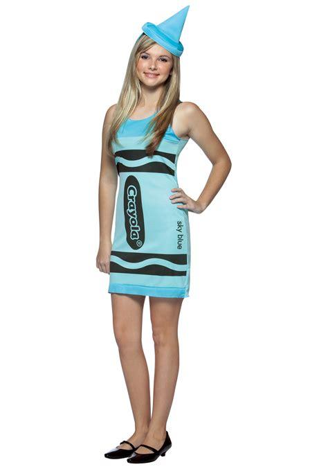 halloween costumes for girls 13 teen sky blue crayon dress