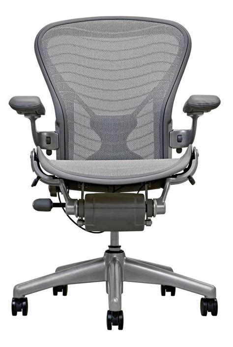 aeron chair smoke titanium finish office furniture scene