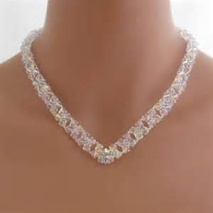 Handcrafted Bridal Jewelry - handmade necklaces swarovski crystals v necklace