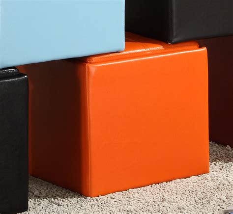 Orange Storage Ottoman Storage Cube Ottoman Orange Ottomans He 4723rn 1