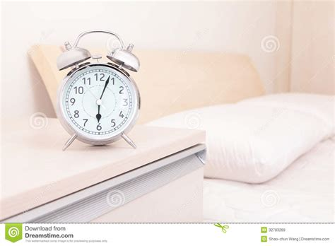 Alarm Clock Bed by Alarm Clock And Bed Royalty Free Stock Images Image